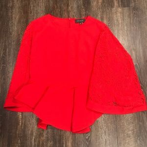 🌸 Red Lace Bell Sleeved Top🌸